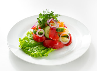 Salad food on white background