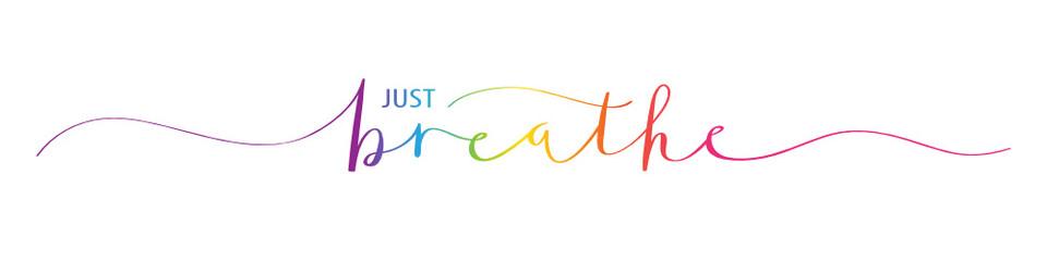 JUST BREATHE motivational quote Fototapete