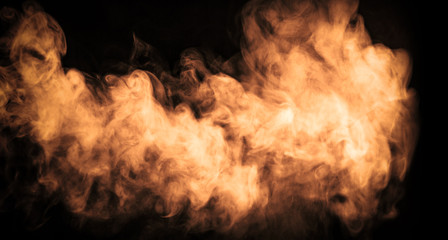 Abstract color fog or smoke move on black color background