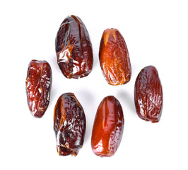 dried date on white background top view