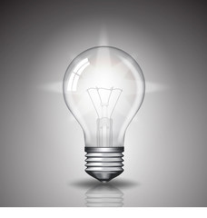 realistic bulb with light