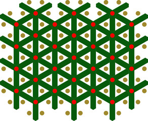 Green and Red Pattern, Y-Pattern, X-mas, Tree, Seamless