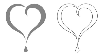 question heart icon