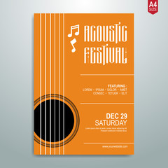Minimalist Music poster, flyer, brochure template