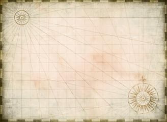 Wall Mural - Vintage burnt blank treasure map background