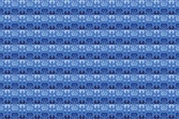 blue abstract futuristic seamless ornament