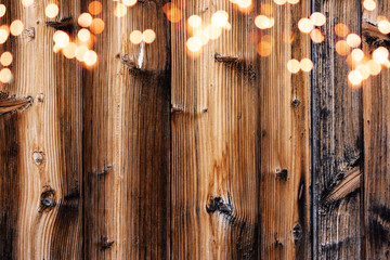 Wood background, dark brown wood texture with leights