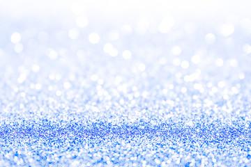 Blue shining lights romantic backdrop sparkling glittering.