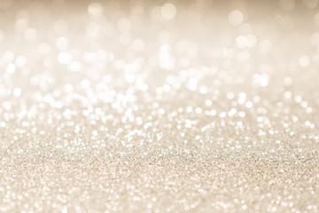 Christmas gold glitter vintage lights background.