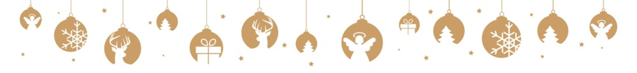 christmas banner golden hanging decorations objects xmas