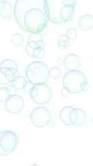 Light pastel colored background with pink bubbles. Wallpaper, texture blue balloons. 3D illustration