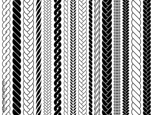 Plaits and braids pattern brushes  Knitting, braided ropes