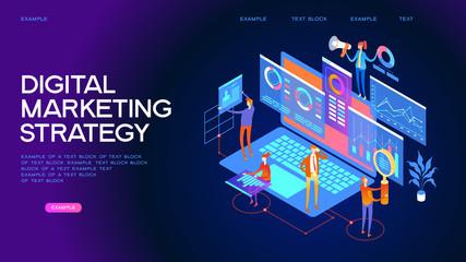 Digital marketing strategy Web Banner Wall mural