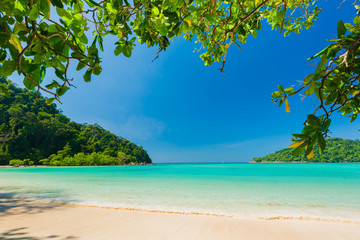 Wall Mural - Beautiful daylight and Breathtaking tropical beach at Surin Island, Wonderful tropical beach for relaxation and travel, Special white sandy at the exotic beach