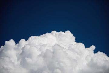 Closeup cumulus cloud with blue sky