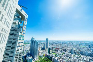 skyline aerial view of shinjuku in Tokyo, Japan