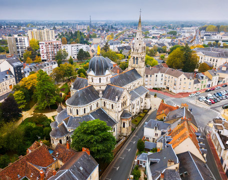 Aerial view of Chateauroux, France