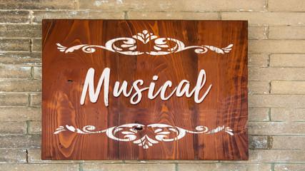 Schild 344 - Musical