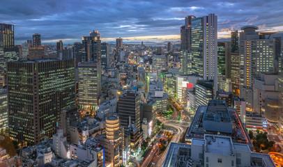 美しい大阪の夜景