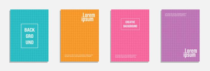 Minimal cover design. Set of geometric pattern background