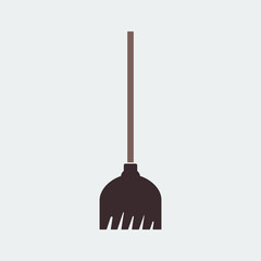 Broom Icon.Flat Design. Vector Illustration