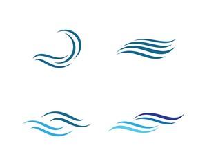 Wave symbol illustration design