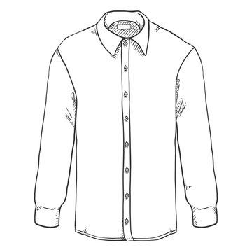 Vector Sketch Long-sleeve Classic Men Shirt