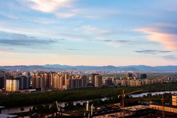 Wall Mural - View of Ulaanbaatar city, Mongolia.