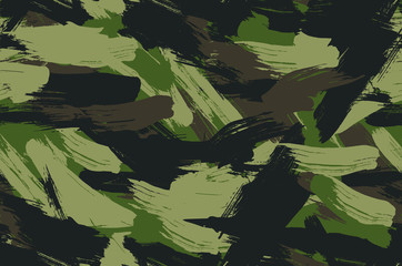 Seamless Brush Stroke Camouflage