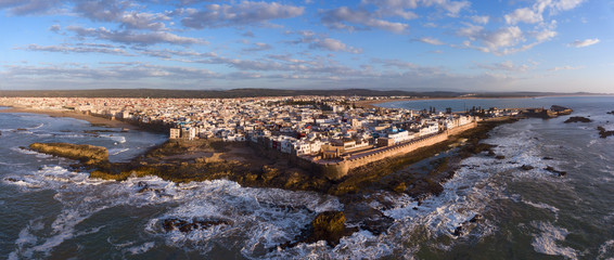 Photo sur Plexiglas Maroc Aerial panorama of Essaouira city