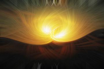 abstrakter Hintergrund in gelb-braun mit twirl effect