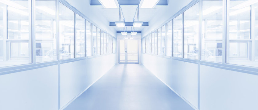 modern interior of science laboratory or industry factory background