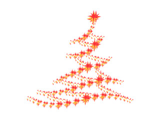 Symbolic image of the Christmas tree on a white background