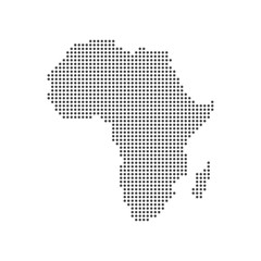 Dotted Map of the African continent. Vector illustration