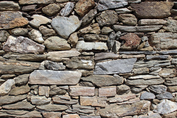 Stone wall surface texture close up detail