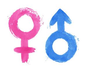 Vector illustration set of gender symbols