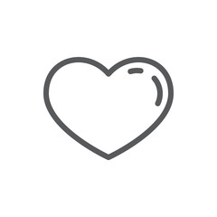 Heart line icon with editable stroke - outline romantic symbol of beautiful heart shape.