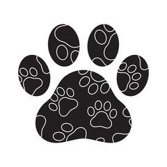Dog paw vector footprint logo icon camouflage graphic symbol illustration french bulldog bear cat cartoon