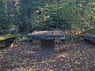 Sitzgruppe im Herbst