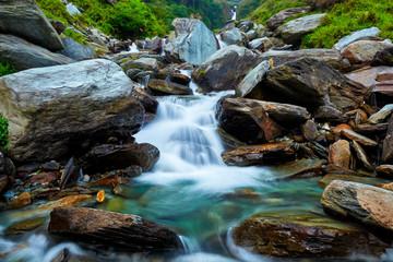 Wall Mural - Bhagsu waterfall. Bhagsu, Himachal Pradesh, India
