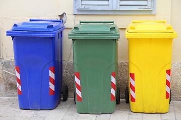 Waste Sorting Plastic Bins