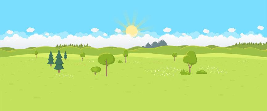 Landschaft Flat Design