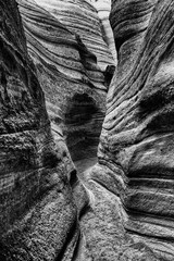 Monochrome slot canyon