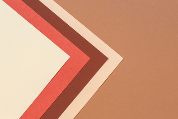Abstract geometric paper texture cardboard background. Beige, brown yellow pastel trendy colors