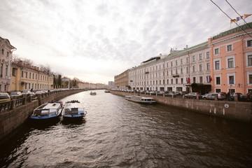 город Санкт-Петербург в России пейзаж