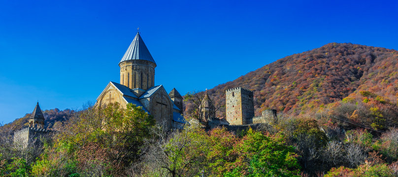 Ananuri castle and Church of the Mother of God, Georgia