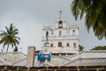Buildings and commercial establishments in Panjim the capital city of Goa