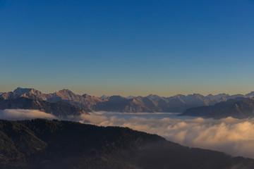 Allgäuer Alpen über dem Nebelmeer