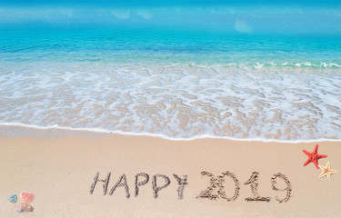 happy 2019 in the sand