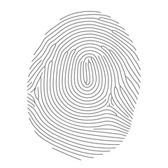 Vector fingerprint, thin line style